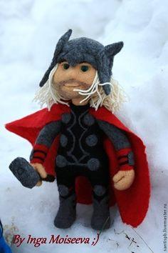 Тор, войлочная кукла - авторская кукла,ручная работа handmade,кукла из шерсти