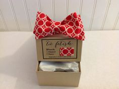 Boys red and white circle bow tie by TieFetish on Etsy, sale $17.50