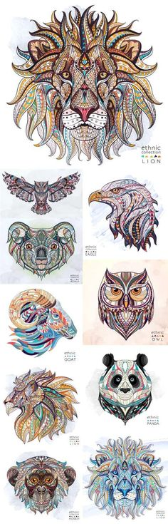 ethnic patterned animal head totem tattoo design t shirts 19 vector - PIPicStats Totem Tattoo, 1 Tattoo, Body Art Tattoos, Hippo Tattoo, Color Tattoos, Tattoo Drawings, Widder Tattoos, Buddha Tattoos, Motifs Animal