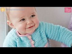 Crochet Take It From the Top Baby Sweater Tutorial - YouTube