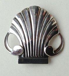 Vintage Sterling Silver Georg Jensen Shell Pin