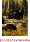 Bear Cubs Garden Flag