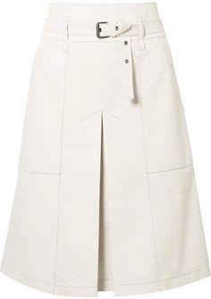 Bottega Veneta Belted Leather Skirt – Off-white Bottega Veneta Belted Leather Skirt – Off-white Skirt Pants, Dress Skirt, White Leather Skirt, Leather Skirts, Fall Dresses, Casual Dresses, Off White Belt, Hijab Fashion, Fashion Outfits