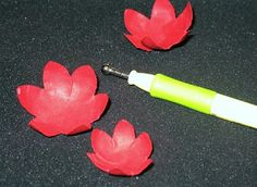 Fantabulous Cricut Challenge Blog: How to shape flowers cut from dies or Cricut