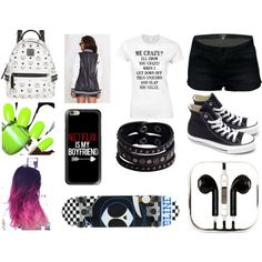 Back to school by noely-jones on Polyvore featuring Converse, MCM, Replay, Casetify, PhunkeeTree and KENNY