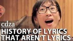 History Of Lyrics That Aren't Lyrics.  cdza Opus No. 1