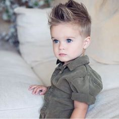 OMAMIMINI Los Angeles / Designer apparel for kids from 0 to 12 years - OMAMImini - kids mechanic jumpsuit in olive Toddler Boy Haircuts, Little Boy Haircuts, Baby Kind, Pretty Baby, Little Babies, Cute Babies, Baby Boy Outfits, Kids Outfits, Baby Boy Hairstyles