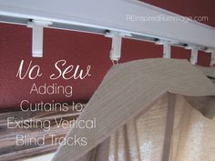 No Sew Vertical Blind Curtains | REinspiredRummage.com