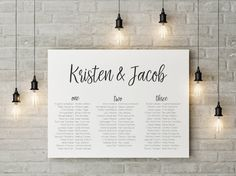 Wedding Seating Chart Wedding Seating Plan by TheSundaeCreative