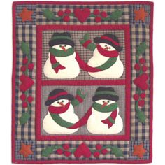 Snow Friends Wall Hanging Applique Quilt Kit - Christmas Quilt Kits at Weekend Kits