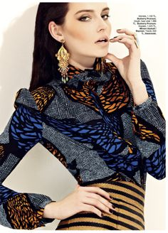 Stripes & Ankara ~African Prints, African women dresses, African fashion styles, African clothing, Nigerian style, Ghanaian fashion ~DK