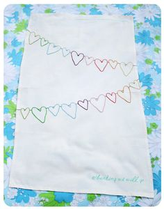embroidery bunting hearts by gingerandgeorge