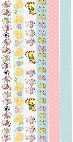 Delicate image in free printable washi tape