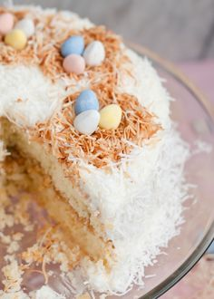 Easter Coconut Cake with Dulce de Leche Filling