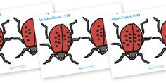 Twinkl Resources >> Ladybird Spots  >> Thousands of printable primary teaching resources for EYFS, KS1, KS2 and beyond! ladybirds, counting, 11-20, numeracy, ladybirds, minibeasts, foundation numeracy, number recognition, number flashcards, 11-20,