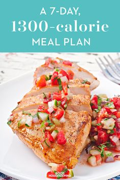 This Meal Plan Packs in All the Snacks - Recipes to Cook - Kalorienarme Rezepte 1300 Calorie Meal Plan, Low Carb Meal, 500 Calorie Meals, No Calorie Foods, Low Calorie Recipes, Diet Recipes, 300 Calorie Dinner, 300 Calorie Breakfast, 1500 Calorie Diet