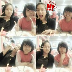 Tamy and Diah:3 #schocked #lunch #hangout