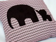 elephant n baby elephant pillow