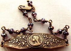 Blessed Virgin Mary Rosary Bracelet by VirgoPotensRosaries on Etsy https://www.etsy.com/listing/116646508/blessed-virgin-mary-rosary-bracelet