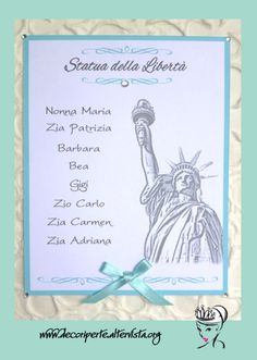"""TIFFANY"" WEDDING THEME - Seating Plan + Place Cards - TABLEAU MARIAGE TEMA ""TIFFANY"" E SEGNAVOLO -"