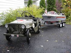 custom pedal car and boat. Two of the most important projects