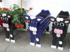 Cute cow planters