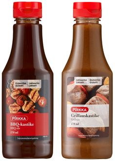 Pirkka / Marinade and Barbecue sauce bottle / Marinointi- ja grillauskastike pullot