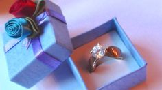 A promise Ring with over 1 ct Cz Zirconia on by VINTAGEARTJEWELRY
