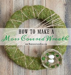 How To Make A Moss Covered Wreath    Worthing Court