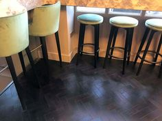 Stunning Black Oak Parquet vinyl tile Luxury Vinyl Flooring, Luxury Vinyl Tile, Vinyl Tiles, Commercial Interiors, Bar Stools, Furniture, Black, Home Decor, Bar Stool Sports