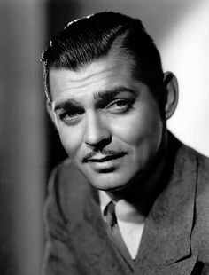 Clark Gable- I'm convinced he is the only man in the world who could ever pull of that mustache so well.
