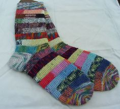 hand knit women's socks UK 5  6 US 7  9 by knitogethersox on Etsy, £18.00