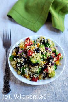 Colorful millet and vegetable salad - Fit Vegetable Salad, Acai Bowl, Meal Prep, Grilling, Lunch, Meals, Baking, Vegetables, Breakfast