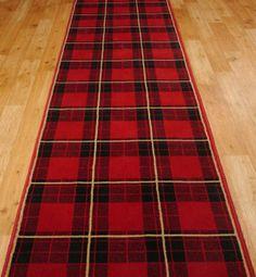 Stair Carpet Runners - Tartan Stair Carpet - Hall Runner in Reds and ...