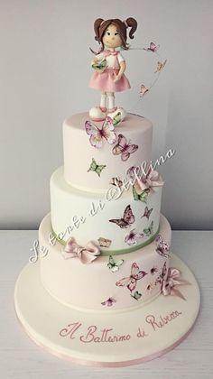 Butterfly cake by graziastellina