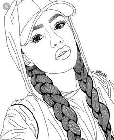 New beautiful art drawings sketches pens ideas Tumblr Girl Drawing, Girl Drawing Sketches, Tumblr Drawings, Girly Drawings, Girl Sketch, Hipster Girl Drawing, Drawing Eyes, Art Drawings Beautiful, Cool Art Drawings