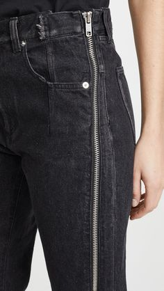 Phillip Lim Straight Jeans with Zipper Textiles Y Moda, Denim Fashion, Fashion Outfits, All Jeans, Fashion Details, Fashion Design, China Fashion, Refashion, Diy Clothes