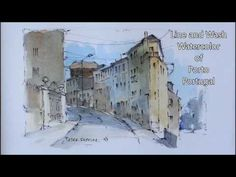 Pen and Wash Watercolor Demonstration using a pencil sketch. By Peter Sheeler - YouTube