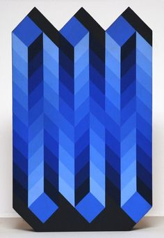 Bold blue pattern by Victor Vasarely Victor Vasarely, Grafik Art, Modern Art, Contemporary Art, Bridget Riley, Motifs Textiles, Art Abstrait, Grafik Design, Geometric Art