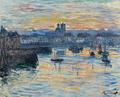 1882 Claude Monet - Port of Dieppe, evening (Dixon Gallery Memphis)