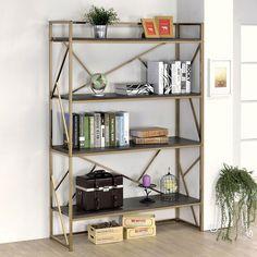 Furniture of America Nara Contemporary 4-Shelf Open Bookshelf | Overstock.com Shopping - The Best Deals on Media/Bookshelves
