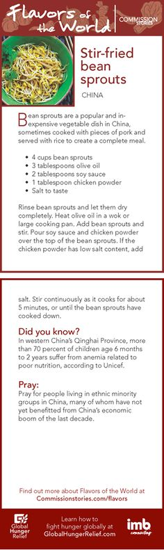 Asia: Stir-fried bean sprouts Protein Foods, Protein Recipes, Healthy Recipes, Healthy Foods, Veggie Side Dishes, Vegetable Dishes, Winter Food, Winter Meals, Bean Sprout Recipes