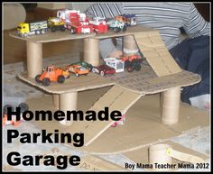 Boy Mama: Homemade Parking Garage