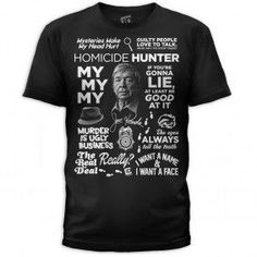 Homicide Hunter Mash Up T-Shirt - Black. Need this!