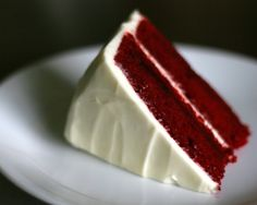 The only red velvet cake I've ever made and there is no reason to try another one. Super delicious. And if you like cream cheese icing use the recipe at the bottom. Seriously. Best. Cream. Cheese. Icing. Ever.
