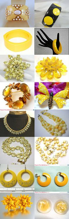 Ecochic Team Color Theme Treasury - Black Friday - Yellow by Lynn on Etsy--Pinned with TreasuryPin.com