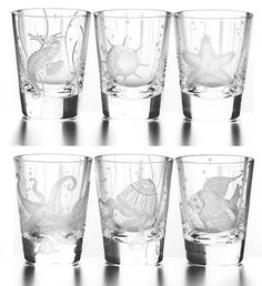 Coastal etched glasses. Ocean Offerings: http://www.oceanofferings.com/sinoldfasset1.html