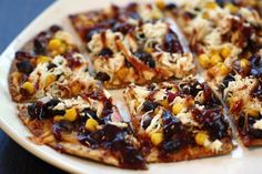 Skinny BBQ Chicken Flatbread- 52 Skinny and Sensational Game Day Appetizers