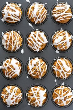These honey-sweetened Wholesome Carrot Muffins are SO delicious, and packed with lots and lots of fresh shredded carrots. | gimmesomeoven.com