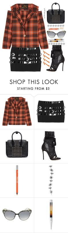"""""""A straight shot of anarchy"""" by sunnydays4everkh ❤ liked on Polyvore featuring Vivienne Westwood Anglomania, MCM, Dsquared2, Urban Decay, Jimmy Choo and S.T. Dupont"""